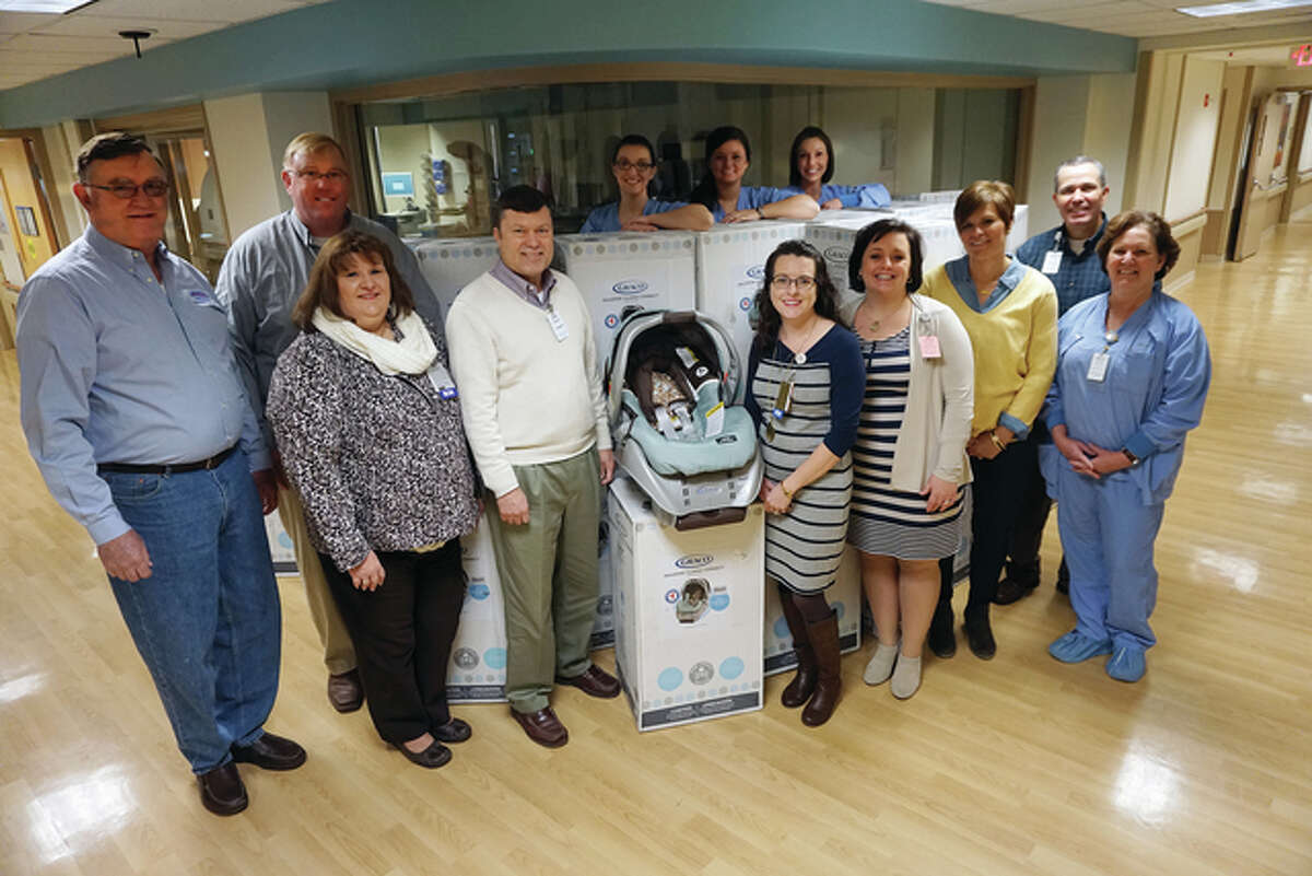 Freer Auto Body will celebrate its silver anniversary all year, stated a news release, and this month the shop donated 25 car seats to Alton Memorial Hospital's Women's Health and Childbirth Center.