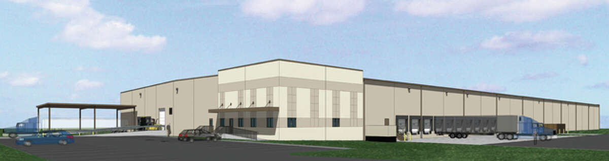 A rendering of the 1 million square-feet of new, railroad accessible manufacturing and warehouse space on the site of the former U.S. Army Charles Melvin Price Support Center.