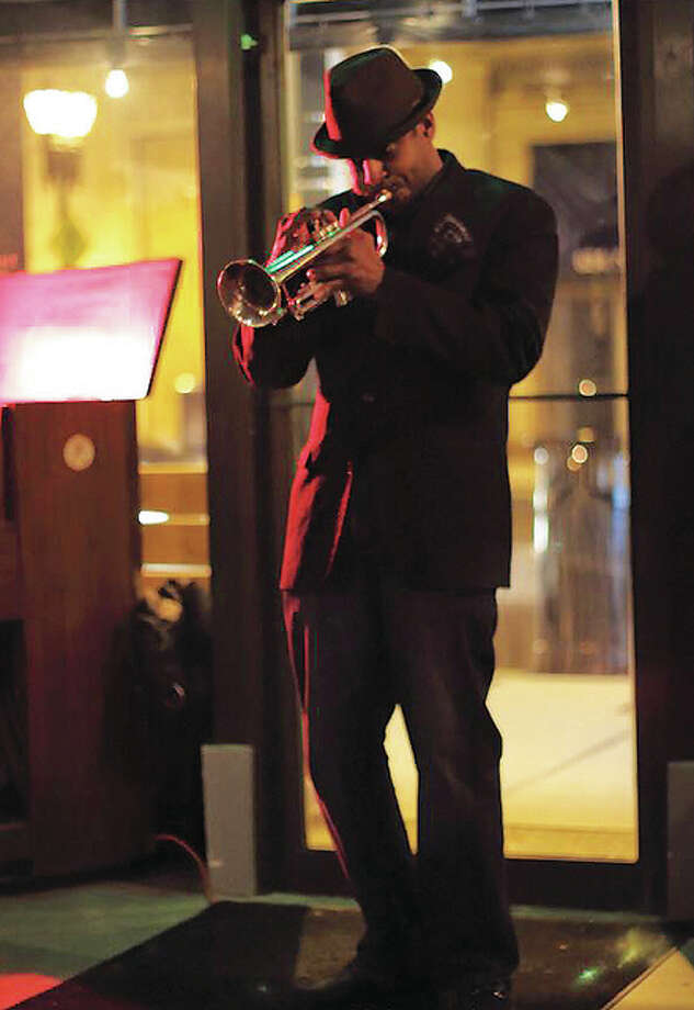 St. Louis-born jazz trumpet player Kasimu Taylor Photo: Kingtungsten Photography |For The Telegraph