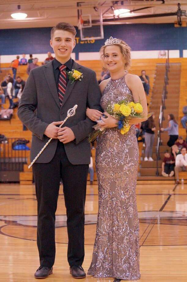 Blake Holdwick and Parker Guigar were recently crowned Bad Axe's Snow Carnival King and Queen. (Submitted Photo)