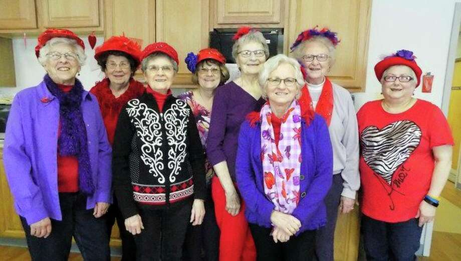 The Red Hat Rubies from the Ruth and Harbor Beach areas visited the residents at the Lakeview Extended Care and Rehab in Harbor Beach on Thursday. The ladies made beautiful homemade Valentines for each one of the residents to receive. They entertained the residents with singing many songs as they all joined in and sang along. They all enjoyed cookies and punch along with lots of visiting and dancing bringing many smiles to each and every one. (Submitted Photo)