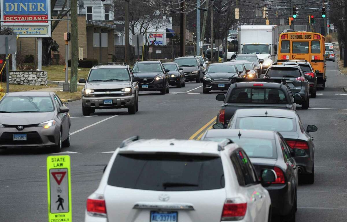 East Avenue Friday, February 9, 2018, in Norwalk, Conn. East Ave. is already a traffic-choked myriad of confusing turn and travel lanes that sparked neighborhood concern several years when the city and Connecticut Department of Transportation paired up several years ago to widen it. With Spinnaker Real Estate Partners?' plan for a 195-apartment transit-oriented development at the East Norwalk Train Station, the concern over traffic has only grown.