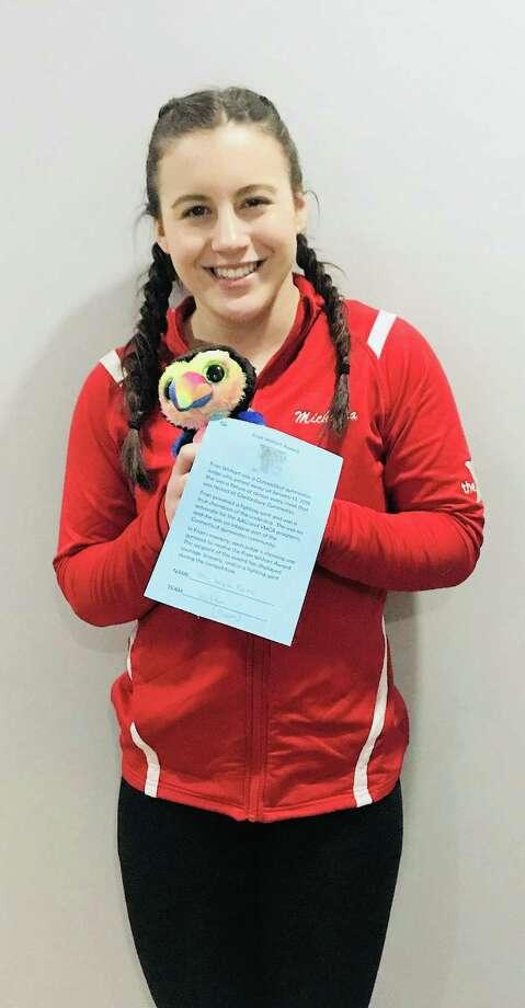 Michaela Kane, level 6 gymnast, recipient of Fran Wishart award. Photo: Contributed Photo/Hearst Media Connecticut