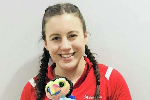 Michaela Kane, level 6 gymnast, recipient of Fran Wishart award.