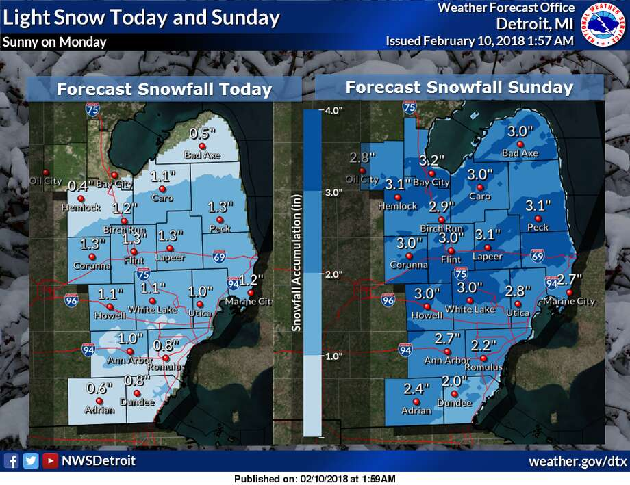 More snow on its way Photo: National Weather Service Detroit