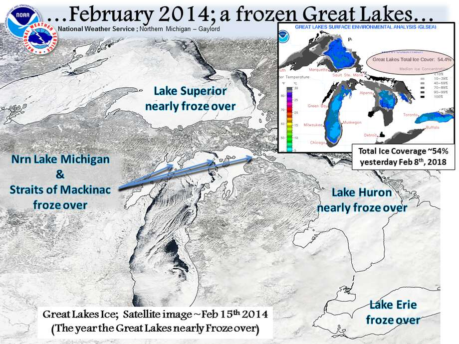 The Great Lakes in 2014 Photo: National Weather Service Gaylord