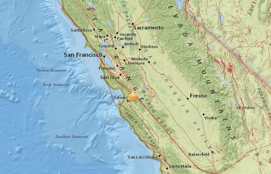 The United States Geological Survey reports a preliminary magnitude 2.5 earthquake struck near San Juan Bautista, CA on Saturday.  The quake hit at 7:52 AM local time at a depth of 7 kilometers. Photo: USGS