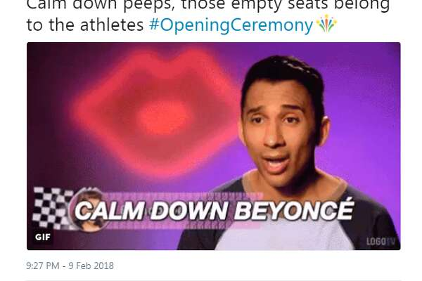 Social media users live tweeted the 2018 Winter Olympics Opening Ceremony using a slew of memes that perfectly captured the event.  Photo:  Twitter