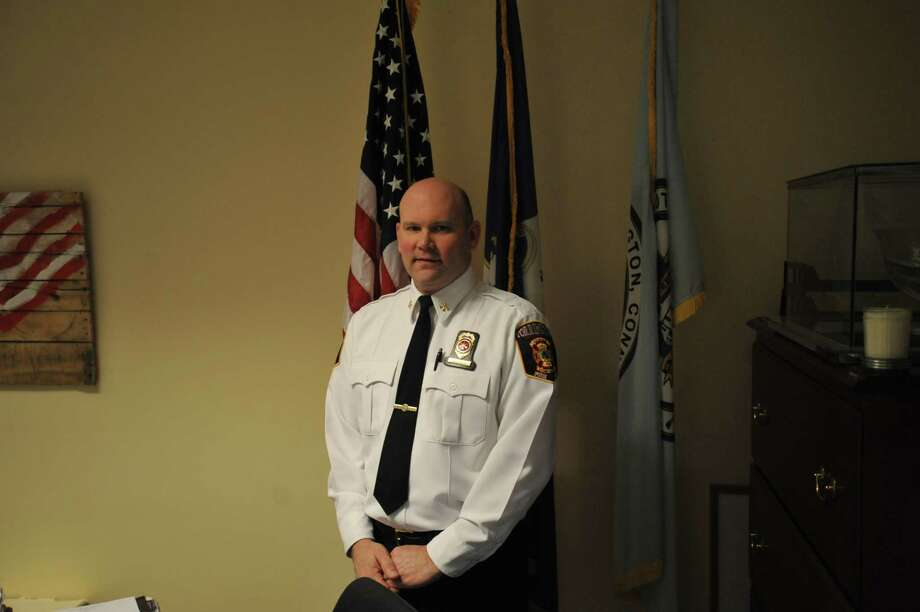 David Tripp, a New Hartford native and Torrington firefighter since 1996, was promoted to deputy chief of the city department this week. Photo: Ben Lambert / Hearst Connecticut Media /