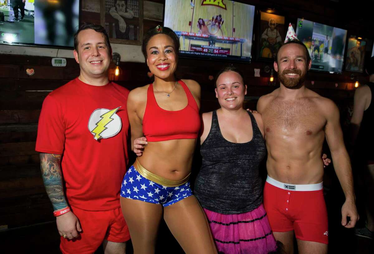 Scenes from the annual Undie Run at Fuego's Saloon on on Saturday, Feb. 10, 2018, in Houston.