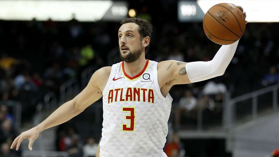 Atlanta Hawks' Marco Belinelli, of Italy, plays in the third quarter of an NBA basketball game against the Utah Jazz in Atlanta, Monday, Jan. 22, 2018. (AP Photo/David Goldman) Photo: David Goldman, Associated Press