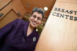 Dr. Anees Chagpar, assistant director of global oncology at the Yale Cancer Center, is photographed at the Breast Center in the Smilow Cancer Hospital on Feb. 5.