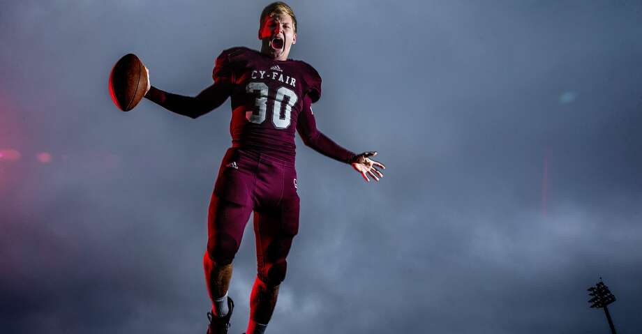 Cy-Fair senior linebacker Patrick Atkinson was the defensive player of the year on the 67th Annual Collin Street Bakery/Texas Sports Writers Association's Class 6A all-state football team. Photo: Michael Ciaglo/Houston Chronicle