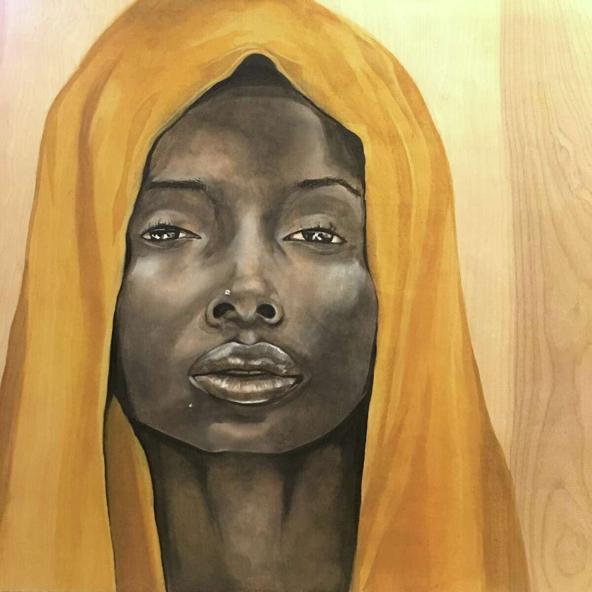 Houston artist Aesha Lee?s paintings are on view in ?The Beauty of the Black Woman? exhibit at the Houston Museum of African American Culture through April 7.