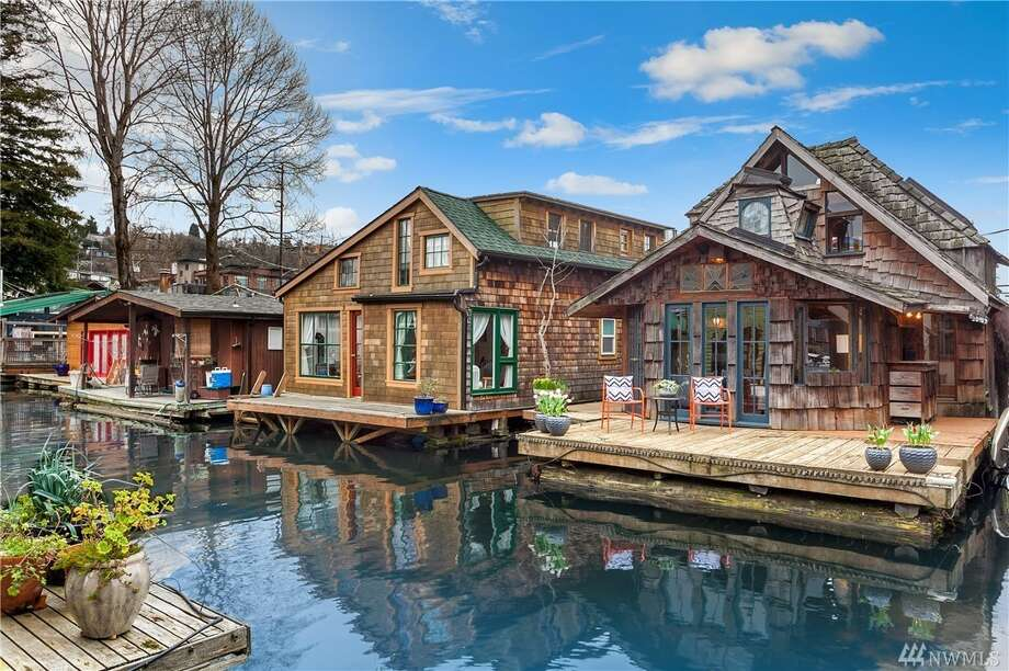 The Hobbit House: Iconic floating home on Lake Union is a two bed, 1 bath at 2019 Fairview Avenue East, Unit N. Photo: Michael Cunningham W/HD Estates