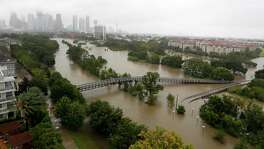 Rains from Hurricane Harvey caused widespread flooding from bayous, including on Memorial Drive and Allen Parkway. Some projects on the table would build or improve infrastructure to help Houston move out water more quickly during torrential rains.