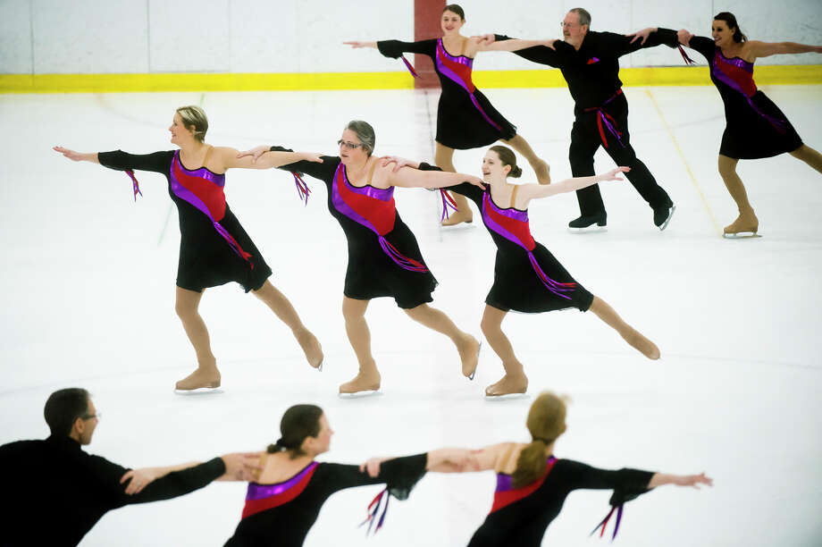 Turning Points, a team from the Midland Figure Skating Club, performs during the Tri-State Synchronized Skating Championships on Saturday, Feb. 10, 2018 at Midland Civic Arena. (Katy Kildee/kkildee@mdn.net) Photo: (Katy Kildee/kkildee@mdn.net)