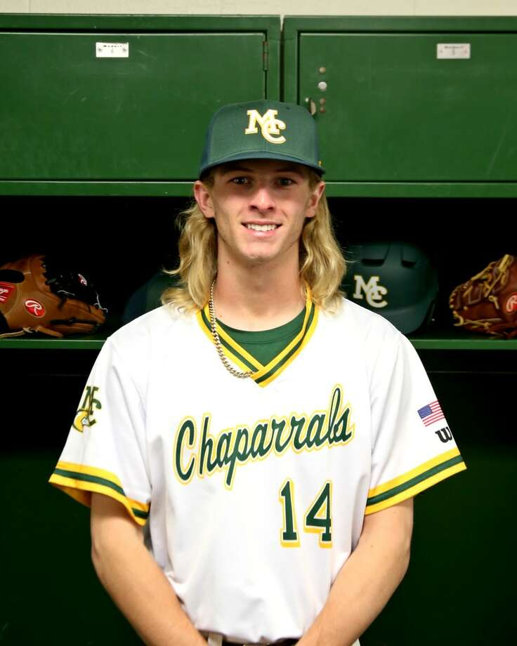 Midland College baseball player Ethan Barker.