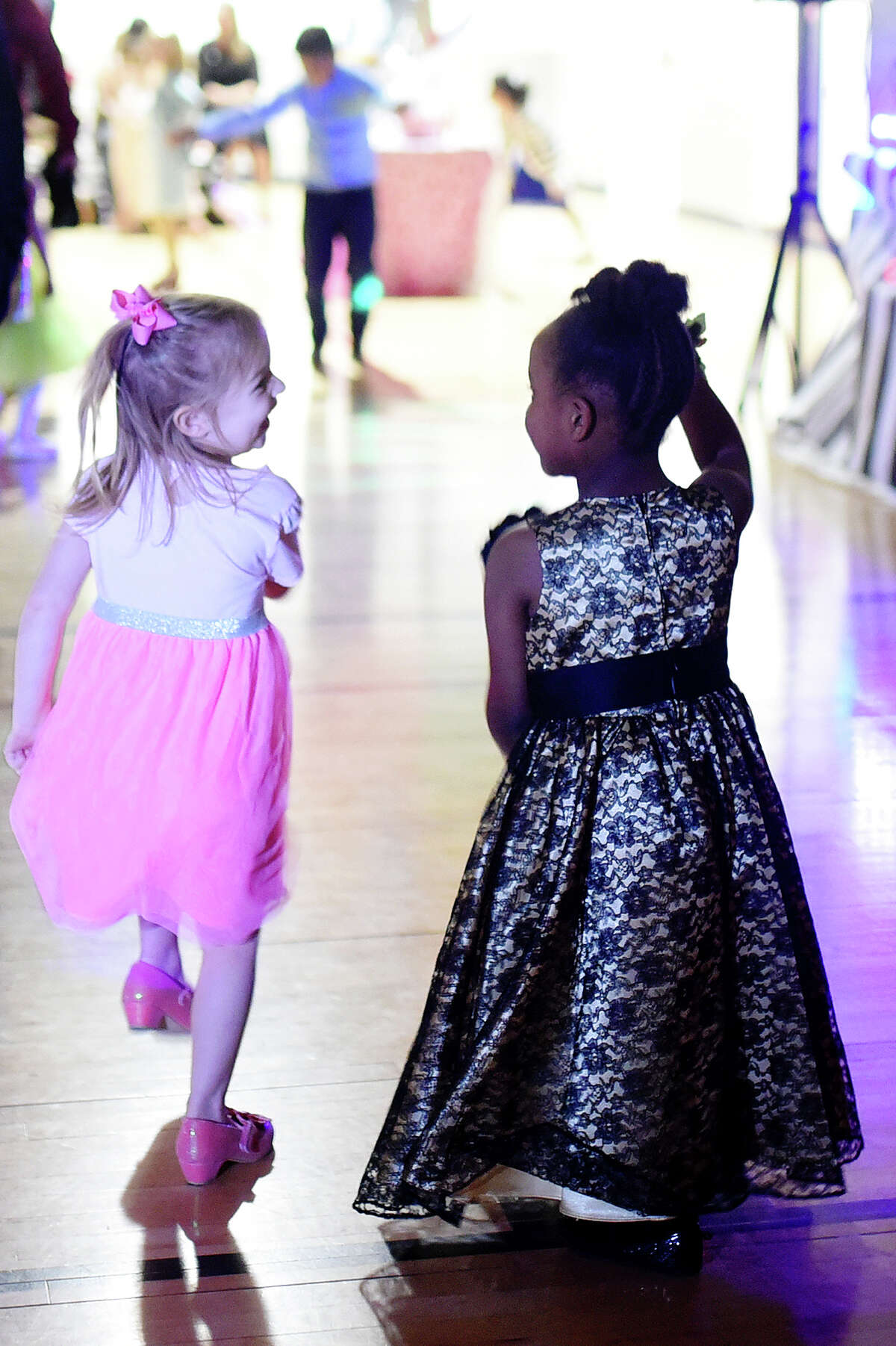 Little Sweethearts Dance featuring dancing and games Feb. 10, 2018 at the YMCA. James Durbin/Reporter-Telegram
