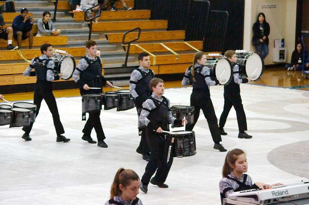 The Clear Springs High School Drumline Performs In TCGC Indoor Competition Saturday Feb