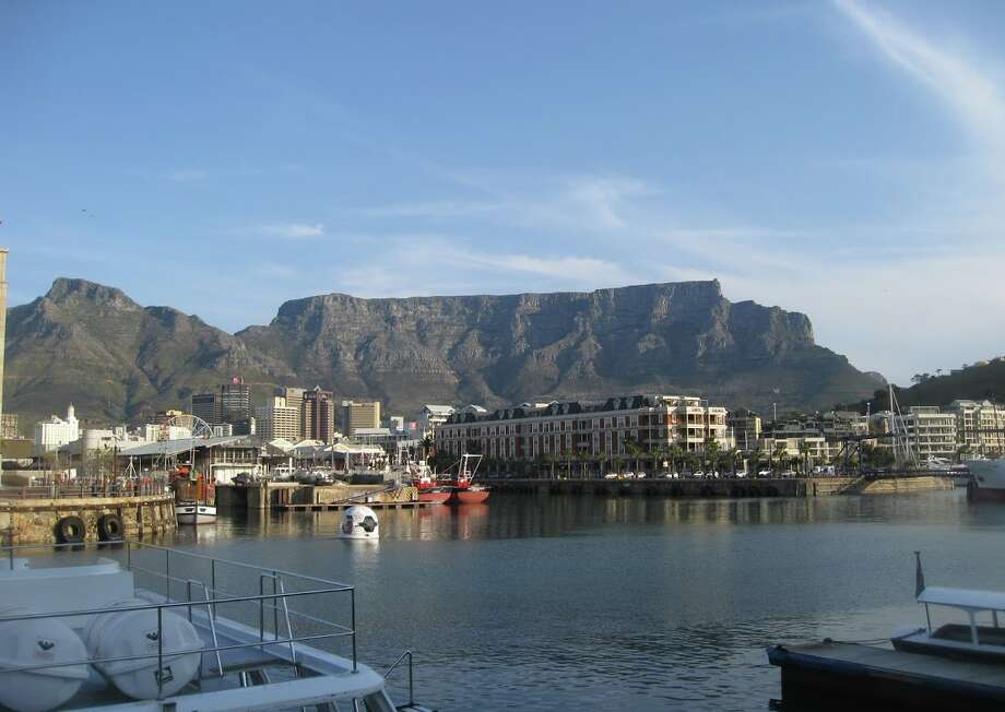 Looking up to Table Mountain from the Cape Town harbour Photo: Chris McGinnis