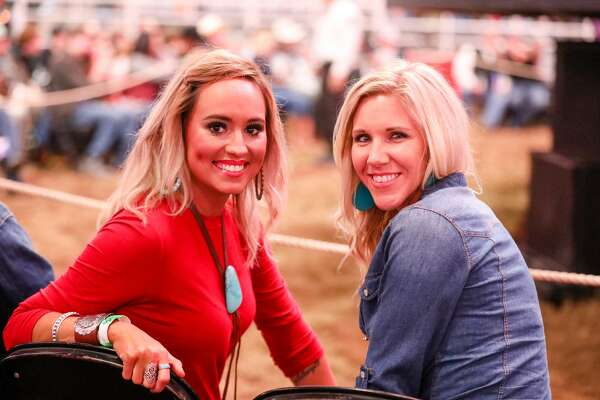 Cloudy gray skies and dreary weather did not keep crowds away from the excitement of the San Antonio Stock Show & Rodeo Saturday, Feb. 10, 2018, at the AT&T Center. Fans were thrilled to see the Josh Abbott Band after a day of rodeo action and fair grounds fun.