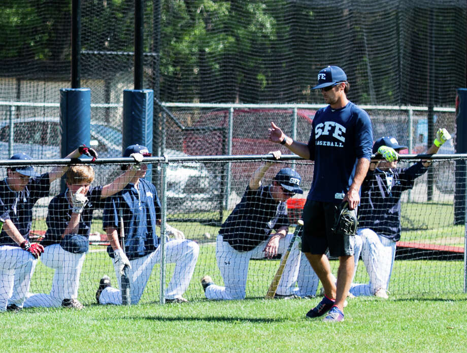 Former TCU player and coach Michael Settle founded the St. Francis Episcopal baseball program in 2010. Settle was recently named head coach for the St. Francis Episcopal Upper School baseball team. Photo: St. Francis Episcopal School / David Porter Photography