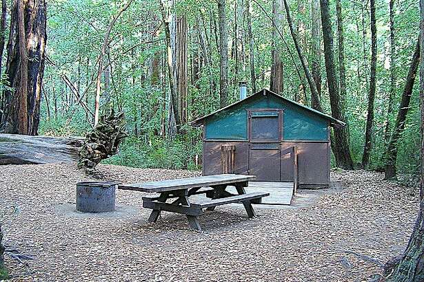 Big Basin Tent Cabins: A cool night and a warm cabin in the redwoods can transform your world overnight into a life of freedom, leisure and play.