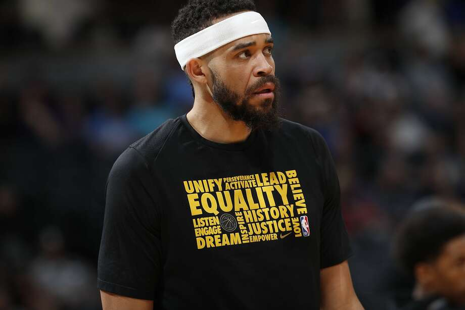 Golden State Warriors center JaVale McGee (1) in the first half of an NBA basketball game Saturday, Feb. 3, 2018, in Denver. (AP Photo/David Zalubowski) Photo: David Zalubowski, Associated Press