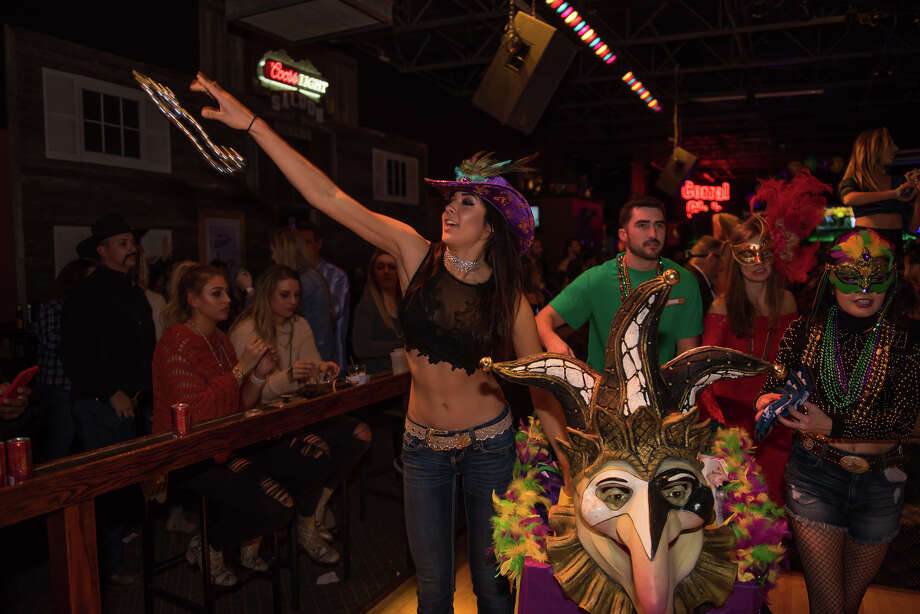 Wild West packed them in Saturday Feb. 10, 2018, night was the dance club threw a Mardi Gras parade and party for a crowd eager for fun and dancing. Photo: Kody Melton For MySA