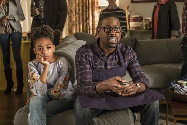 This Is Us, episode 214, (l-r) Eris Baker as Tess, Sterling K. Brown as Randal