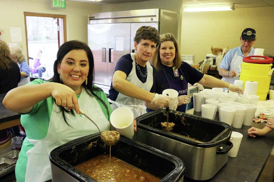 Dayton Rotarians served up the delicious gumbo at their annual fundraiser last Friday at First Methodist Church in Dayton. Photo: David Taylor