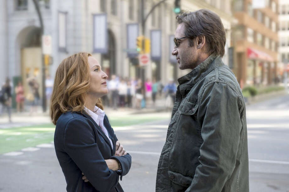 """Though they eventually received equal pay for """"The X-Files"""" revival last year, Gillian Anderson has said she was initially offered half of what was offered to David Duchovny. MUST CREDIT: Ed Araquel, Fox ORG XMIT: l Photo: Ed Araquel / Fox"""