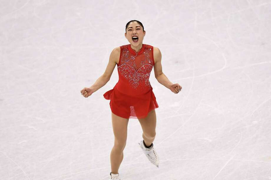 Team USA figure skater Mirai Nagasu was elated Sunday after becoming the first American woman to land a triple axel in Olympic competition. Photo: ARIS MESSINIS, Contributor / AFP