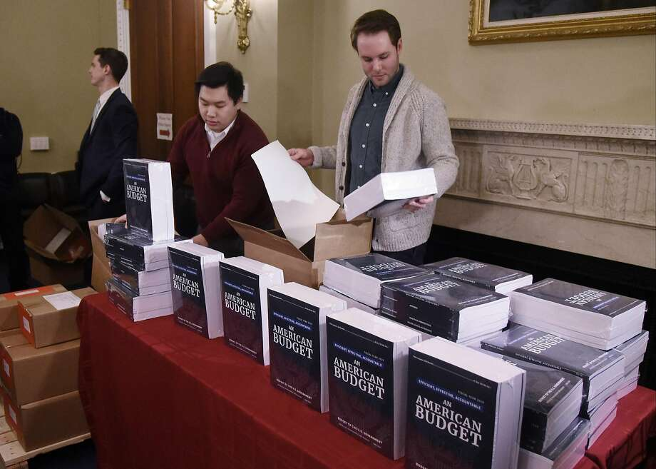 President Trump's fiscal year 2019 budget is delivered to the House Budget Committee. Photo: Olivier Douliery, TNS