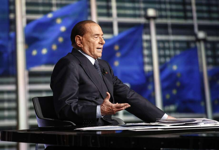 Former Premier Silvio Berlusconi is seeking to foil election hopes of the populist 5-Star Movement. Photo: Giuseppe Lami, Associated Press