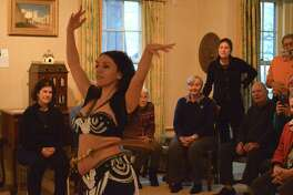 "Students and observers watch instructor Tava Naiyin of Norwalk in action at the New Canaan Historical Society's ""The Art of Belly Dancing with Tava"" program on Sunday, Feb. 11, 2018, in New Canaan, Conn."