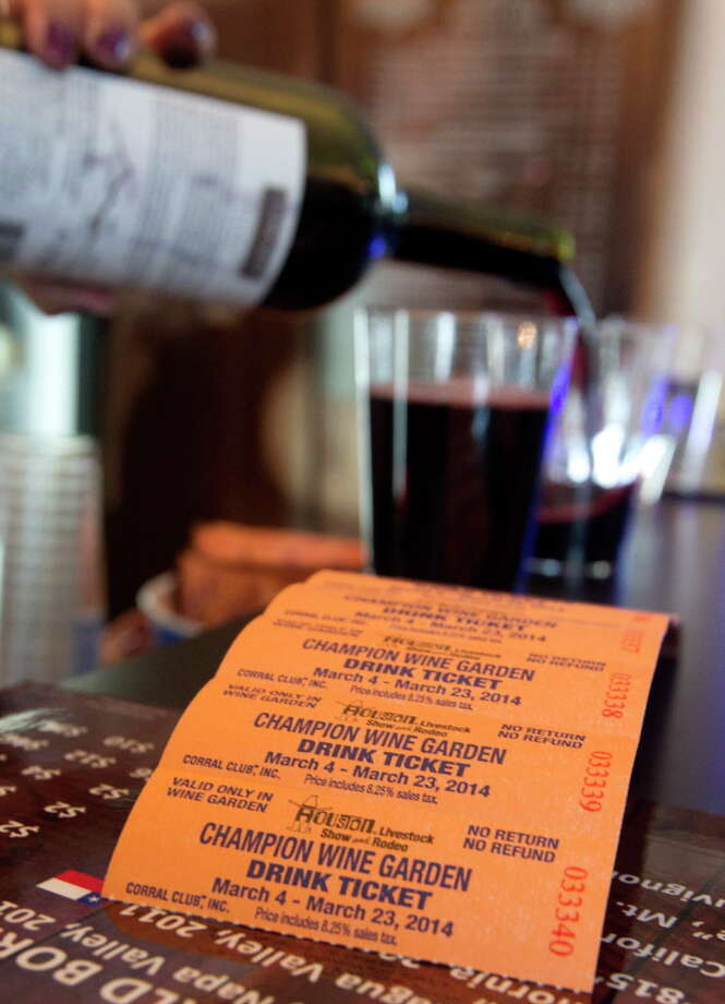 Wine tickets are used at the Champion Wine Garden during the Houston Livestock Show and Rodeo at a previous Rodeo. Photo: J. Patric Schneider, Freelance / © 2014 Houston Chronicle