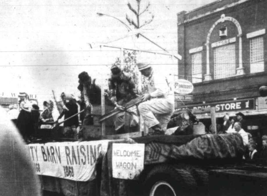 The Welcome Wagon Float Called Community Barn Raising Won First Place In 1968