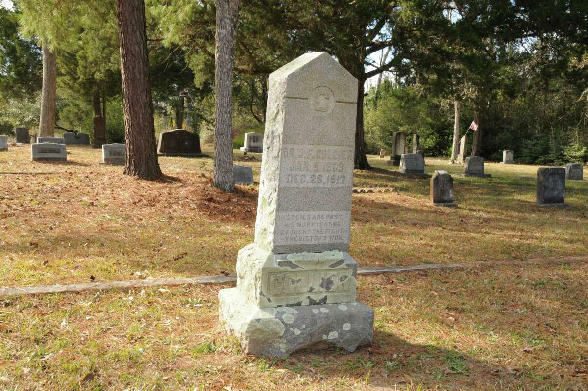 The gravestone of Dr. Juriah Fuller Collier. Collier died on Dec. 28, 1912 and is buried in Conroe's Oakwood Cemetery. He was Conroe's first mayor and a member of the Conroe ISD school board and started an organization to promote better roads in Conroe. Unfortunately a photo of Dr. Collier could not be located.