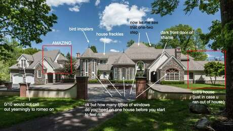 Breakdown of a starter castle from McMansion Hell Photo: Http://mcmansionhell.com/