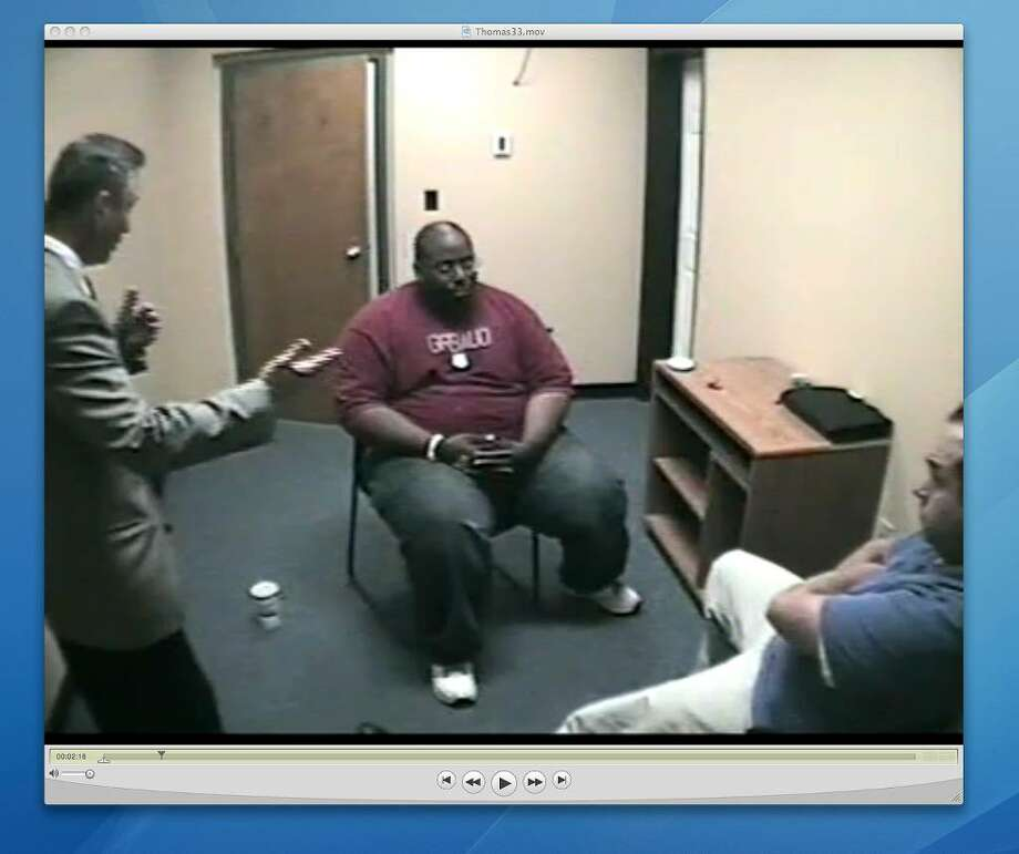 Recorded video interview of Troy detectives questioning Adrian Thomas about the September 2008 death of his 4-month-old son. This recording was shown to jurors during Thomas' trial.
