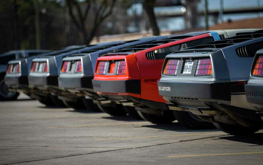 DeLoreans are lined up outside the DeLorean Motor Company, Wednesday, Jan. 31, 2018, in Humble. ( Mark Mulligan / Houston Chronicle ) Photo: Mark Mulligan, Houston Chronicle / © 2018 Houston Chronicle