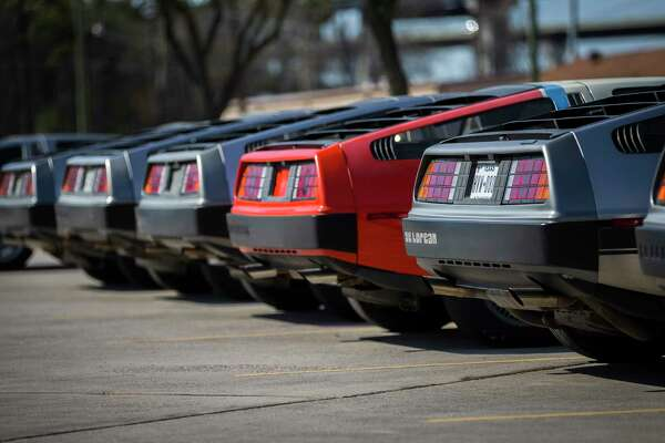 DeLoreans are lined up outside the DeLorean Motor Company, Wednesday, Jan. 31, 2018, in Humble. ( Mark Mulligan / Houston Chronicle )