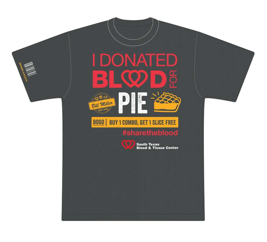 Those who donate platelets or blood through April 30, 2018 will receive a coupon for free Bill Miller Bar-B-Q pie. Photo: South Texas Blood & Tissue Center