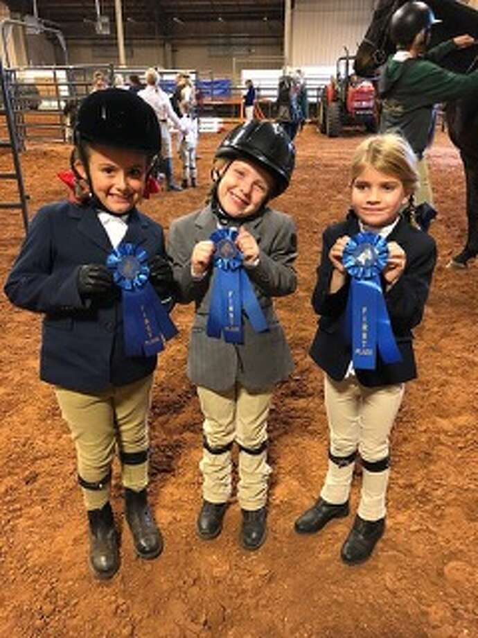 Horse show: Jillian Betton, from left, Charlie Maher and Vivianne Gaynor Photo: Courtesy Photo