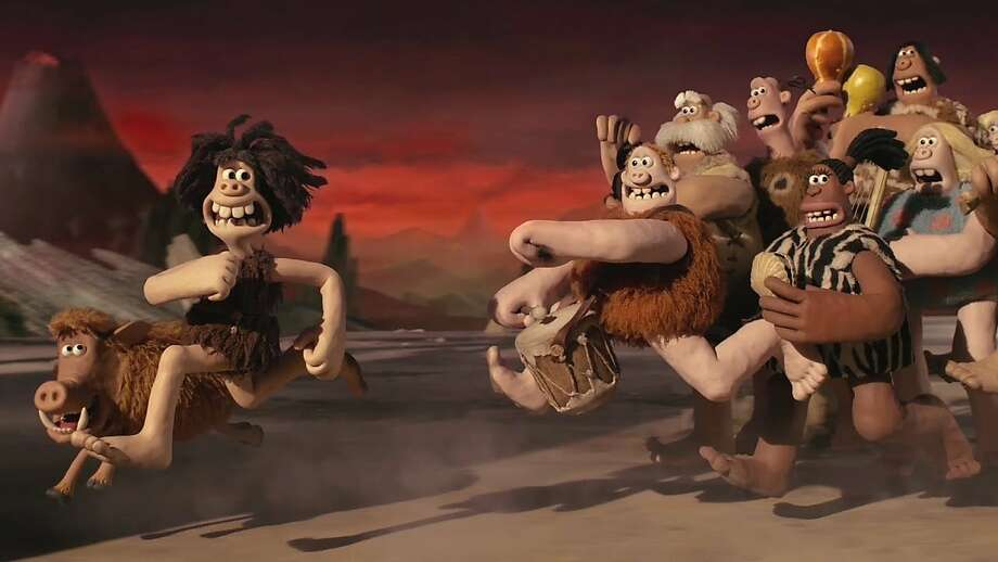 Caveman Phone : Stone age soccer clash scores laughs in 'early man' sfgate