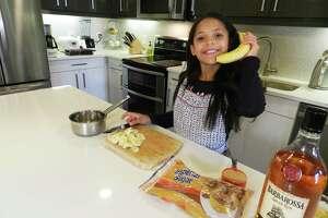 "San Antonio's Chloe Hawkins, 9, has fun preparing a dessert. Her culinary skills earned her a spot on Fox's upcoming season of ""MasterChef Junior"" with Gordon Ramsay."