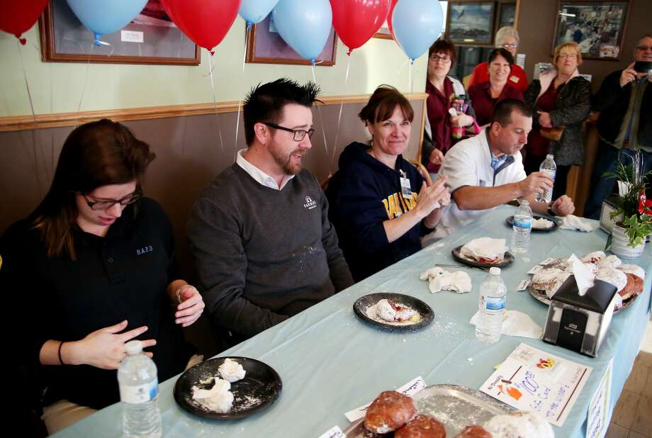 Inaugural Paczki Eating Contest 2018 Photo: Paul P. Adams/Huron Daily Tribune
