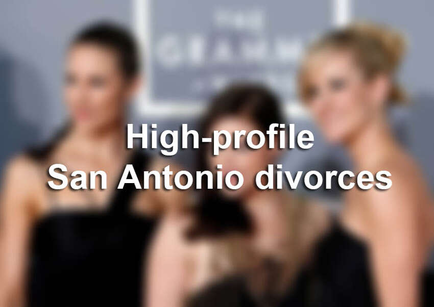 Click through for a look at the famous couples who have filed for divorce in San Antonio.